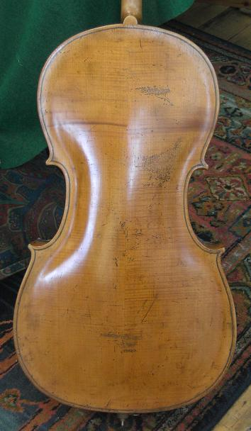 18th century Saxon cello