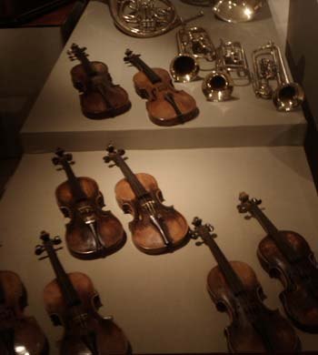 Budapest museum violins